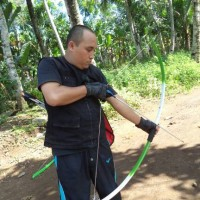 panah recurve PVC long bow