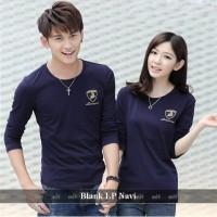 Lengan panjang couple Serasi | Baju couple Simple | Blank navy