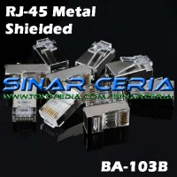 Jack RJ45 Metal Shielded Kepala LAN Ethernet Network Connector HQ