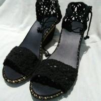 harga Sepatu sandal wanita wedges rajut Tokopedia.com