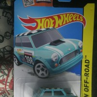 MINI MORRIS COOPER blue biru mr. bean HotWheels HW 2015 miniature