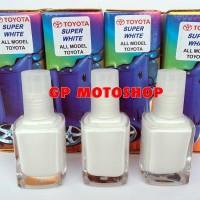 Jual Toyota SUPER WHITE Cat Oles Penghilang Baret Parah, Lecet, Gores Mobil Murah