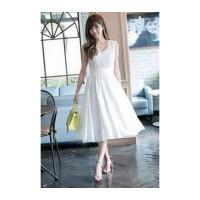 721 - midi dress no arms korean import