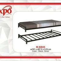 Ranjang besi single ranjang sorong metal bed uk.90 expo callisto