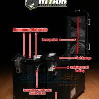 harga box motor almunium pannier badak hitam 34liter Tokopedia.com