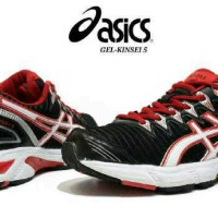 asic gel kinsei 5 black red super premium