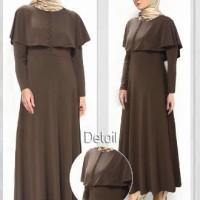 baju pakaian wanita muslim murah model bagus maxi warna coklat cantik