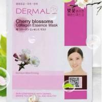 Masker Korea Dermal Cherrybloosoms Collagen Essence Mask