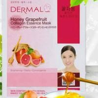 Masker Korea Dermal Honey Grapefruits Collagen Essence Mask