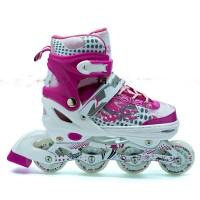 Jual roda sepatu roda roda inline roda cadangan roda karet pink cek ... 1c71db6939