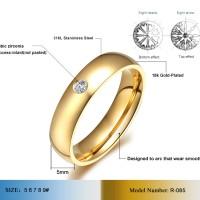 harga Cincin Couple / Tunangan / Nikah / Pasangan / Titanium C027 gold Tokopedia.com