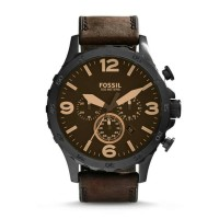 Fossil Nate Chronograph Brown Leather - JR1487