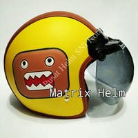 Helm Bogo Retro Kulit Emoticon Lucu XT4M