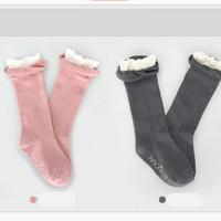 kaos kaki anak perempuan ukuran panjang dengan renda putih - ACG030
