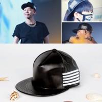 Topi snapback k-pop Big bang GD Seungri hitam leather