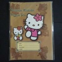 Sampul Buku Coklat Kuarto Hello Kitty