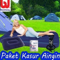Jual KASUR ANGIN BESTWAY PAKET (Kasur Single + Pompa 12
