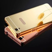 Oppo R9 Bumper Mirror Backcase Sliding Hardcase Metal Casing Cover