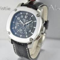 jam tangan alexandre christie 6293 silver chronograph original