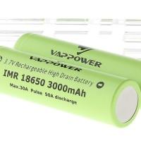 VAPPOWER 18650 3000mAh Flat Top Battery Authentic Baterai Batre
