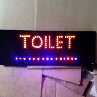 tulisan lampu led / led sign toilet kuning