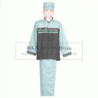 MKA 093 PA Hijau 6 tahun grosir setelan baju koko peci celana muslim