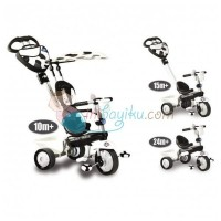Smart Trike 4 in 1 New Zoo Touch Steering Tricycle Cow Color Black Whi