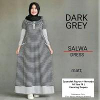 harga Baju Dress Muslim Wanita Salma Dark Grey Gamis Maxi Syari Tokopedia.com