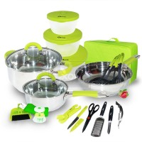 Ox-992 Panci Oxone 23pcs Travel Cookware Set