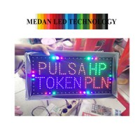 harga Led Sign Pulsa HP & TOKEN PLN/ LAMPU LED PULSA Tokopedia.com