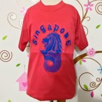 kaos souvenir negara singapura / kaos singapura anak anak
