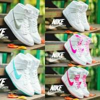 sepatu wedges women nike sneakers full white