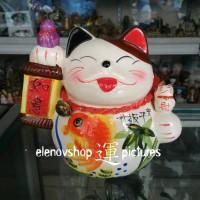 Kucing Keberuntungan Maneki Neko White FS051626