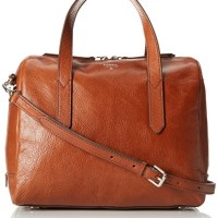 Tas Fossil Sydney Satchel Brown