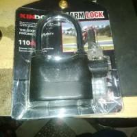 Gembok Alarm Kinbar - Gembok Motor, Pintu Pagar Rumah / Toko / Ruko