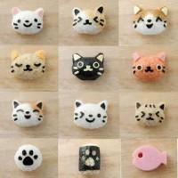 Bento Set kucing lucu / cute cat / cetakan nasi / rice mold ( 1 set is