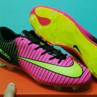 sepatu soccer nike mercurial vapor XI pink hitam grade ori import