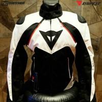 Dainese Hawker D-Dry Waterproof Jacket - White/Black/Red
