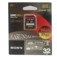 SONY SDHC UHS-I U3 32GB Class 10 Up To 94MB / S