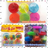 Jual Fun doh pick & play lilin mainan clay Murah