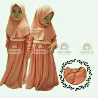 harga Baju Anak Perempuan/dress Muslim/jilbab/hijab Set Salem Tokopedia.com