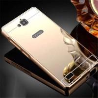 Luxury Bumper + Mirror Plate Case Huawei Honor 3c