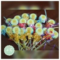 Lollipop uk kecil. Custom nama dan tema