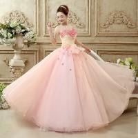Gaun Pengantin Pink Wedding Gown Wedding Dress 2016 06002