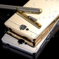 Metal Bumper + Plating Mirror Case Huawei Honor 3c lite