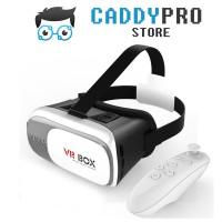 Jual VR BOX Cardboard 3D ORIGINAL + VR Gamepad White (Up to 6 inch) Murah