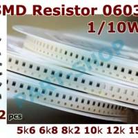 R smd resistor 0603 5k6 6k8 8k2 10k 12k 15k 5.6 6.8 8.2 10 12 15 kOhm