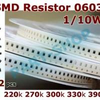 R smd resistor 0603 220k 270k 300k 330k 390k 220 270 300 330 390 kOhm