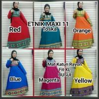 harga hijab gamis etnik maxi 11 dress katun bangkok busui xl murah Tokopedia.com