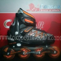 harga Sepatu Roda Inline Skate Cougar Power Line Black Orange Tokopedia.com